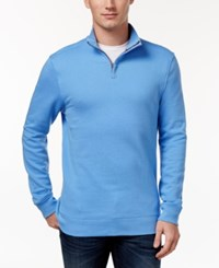 Club Room Men's Quarter Zip Sweatshirt Only At Macy's Granada Blue
