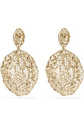 Aurelie Bidermann Dentelle Gold Plated Earrings One Size