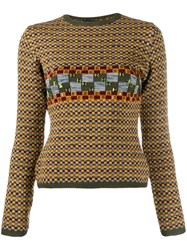 Jean Paul Gaultier Pre Owned 1990'S Gem Embroidered Jumper Yellow