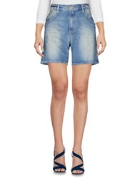 Wildfox Couture Denim Bermudas Blue