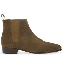 The Kooples Suede Chelsea Boots Bei01