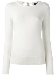 Theory Round Neck Jumper White