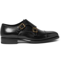 Tom Ford Wessex Leather Monk Strap Shoes Black