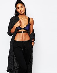 Blue Life Preforated Contrast Bralette Ultramarine