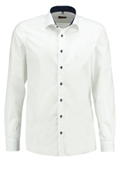 Eterna Slim Fit Shirt White Light Blue