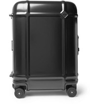 Fabbrica Pelletterie Milano Globe Spinner 55Cm Leather Trimmed Polycarbonate Carry On Suitcase Black