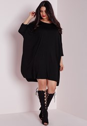 Missguided Plus Size Oversized T Shirt Dress Black Black