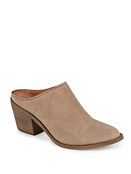 Lucky Brand Maikki Leather Slip On Booties Brindle