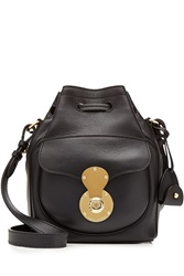 Ralph Lauren Collection Ricky Small Leather Shoulder Bag Black