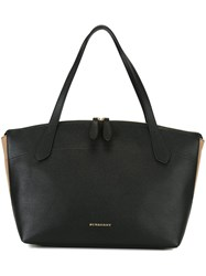 Burberry House Check Detailed Tote Black