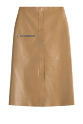 Golden Goose Leather Skirt Brown