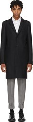 Paul Smith Ps By Grey Wool Single Button Coat