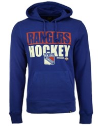 47 Brand '47 Men's New York Rangers Knockaround Headline Pullover Hoodie Royalblue
