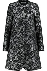 Goat Redgrave Metallic Jacquard Coat Black