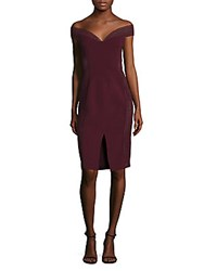 Nicholas Braid Trimmed Dress Plum