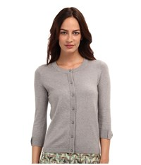 Kate Spade Somerset Cardigan Casino Grey Melange Women's Sweater Gray