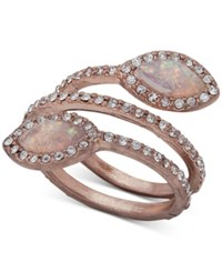 Lonna And Lilly Pave Stone Spiral Ring Rose Gold