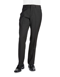 Nautica Micro Checked Suit Pants Charcoal