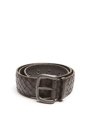 Bottega Veneta Intrecciato Leather 4Cm Belt Brown