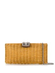 Rodo Woven Clutch Bag Metallic