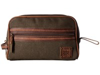 Sts Ranchwear The Foreman Shave Kit Dark Canvas Leather Accents Handbags Brown