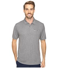 Travis Mathew Coule Polo Quiet Shade Men's Clothing Gray
