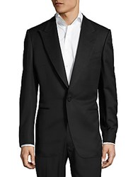 Brunello Cucinelli Wool And Mohair Wool Peak Lapel Jacket Black