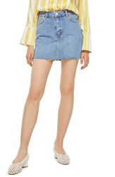 Topshop Denim Miniskirt Mid Denim