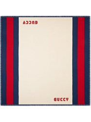 Gucci Guccy Web Modal Silk Scarf Nude And Neutrals