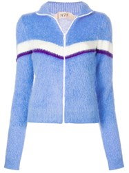 N 21 No21 Striped Zipped Track Top Blue