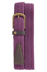 Ted Baker Men's London Twizzer Stretch Belt Purple