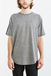 The Narrows Stripe Sleeve Athletic Tee Charcoal