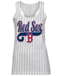 5Th And Ocean Women's Boston Red Sox Opening Night Tank Top White