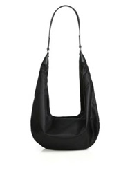 The Row Nylon Sling Hobo Bag Black Olive