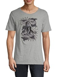 Cult Of Individuality Embroidered Cotton Tee Heather Grey