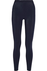 Alexander Wang Ribbed Stretch Knit Leggings Blue