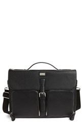 Ted Baker London Munch Leather Satchel Briefcase Black