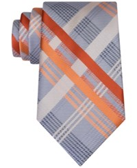 Geoffrey Beene Men's Sunshine Plaid Tie Orange