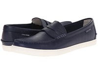 Cole Haan Pinch Weekender Peacoat Leather White Men's Slip On Shoes Blue