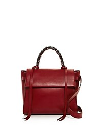 Elena Ghisellini Angel Sensua Small Leather Satchel Ribes Red Gunmetal