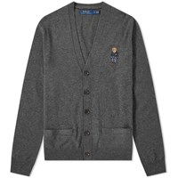 Polo Ralph Lauren Small Bear Embroidered Cardigan Grey