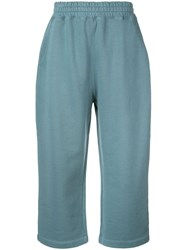 Alexander Wang T By Heavy Terry Track Pants Blue