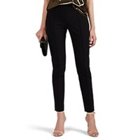 Valentino Seamed Legs Stretch Wool Leggings Black