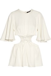 Ellery Apocalyptic Cutout Satin Crepe Top Off White