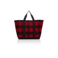 Barneys New York Flannel Tote Red