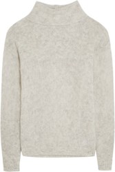 Frame Le Open Mix Stitch Knitted Sweater Off White
