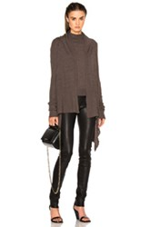 Rick Owens Classic Knit Wrap In Gray
