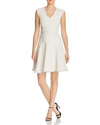 Rebecca Taylor Tweed Fit And Flare Dress Limestone