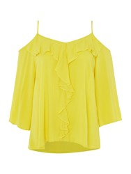 Therapy Chelsea Cold Shoulder Top Lime