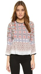 Shoshanna Brielle Blouse Tiles
